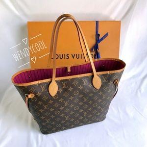 Louis Vuitton Monogram Neverfull MM Pivoine pink